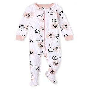 Baby Girl 0-3 Footie Pajamas Love you Dad Mom NWT
